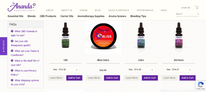 Screenshot 2019 05 27 CBD Hemp Oil Formulas CBD Essential Oils CBD Extract 700x313 - Ananda Apothecary